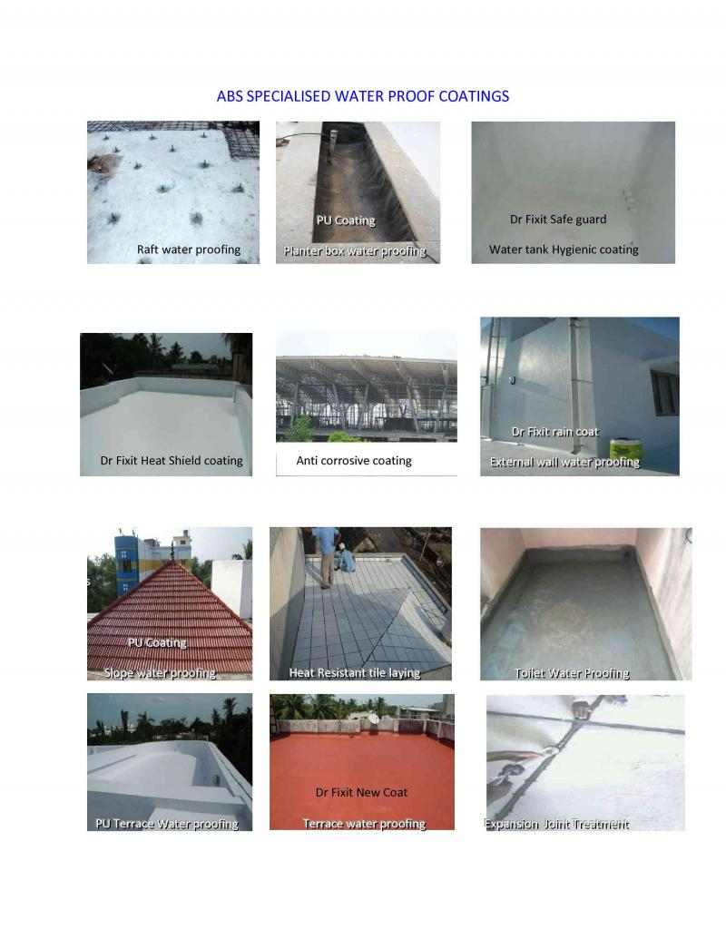 various water proofing services